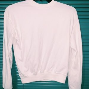 "brandy melville white ""sweater"""